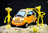 illustration en pâte à modeler Smart fortwo