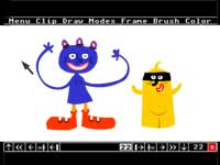 personnages de l'animation flash dans cyber paint